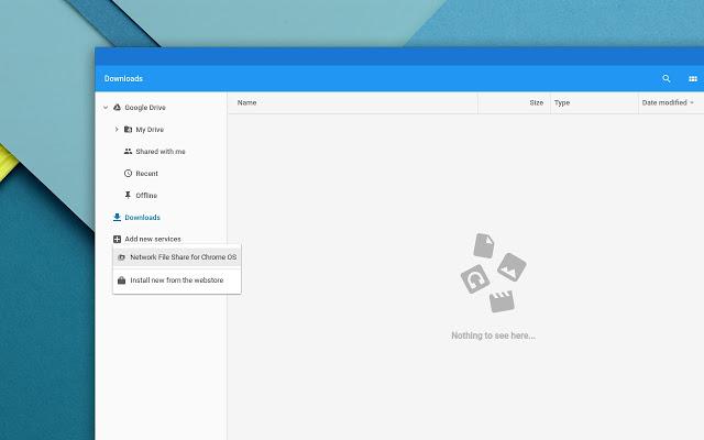Chrome OS Network File Share