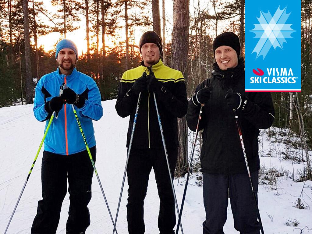 Visma Solutionsin toimitusjohtaja Ari-Pekka Salovaara osallistuu Ylläs-Levi-hiihtoon