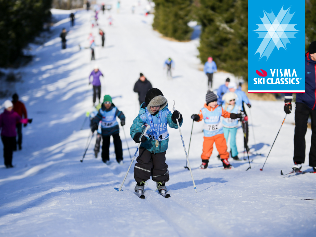 300 kultamitalia Visma Ski Classics 4kids